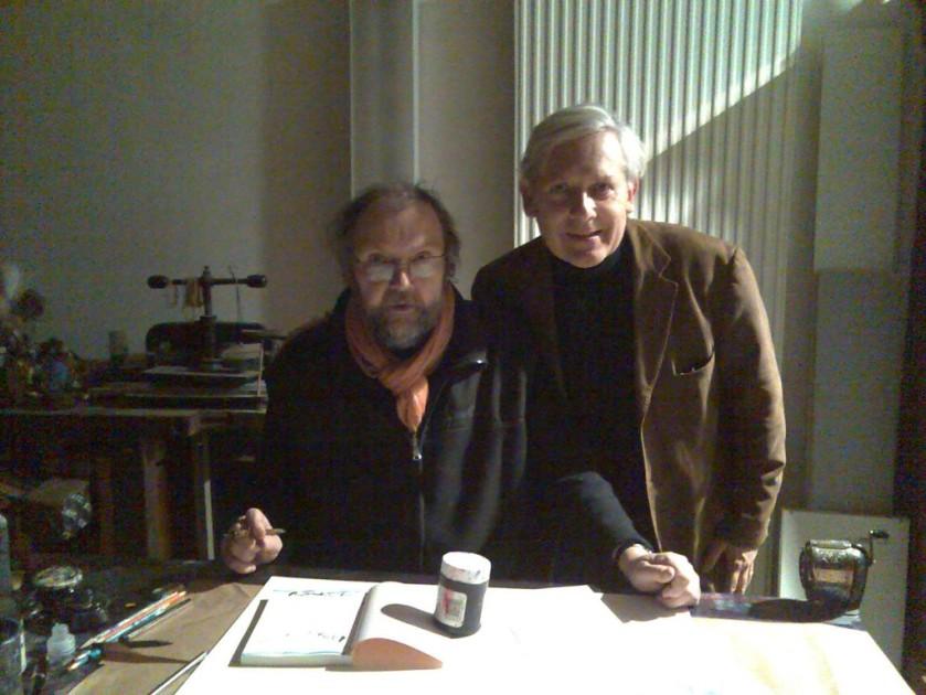 Dans l'atelier de Julius Baltazar, décembre 2009