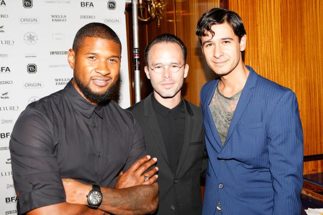 Jonah Bokaer, Usher Raymond, Daniel Arsham at the Chez Bushwick Gala.