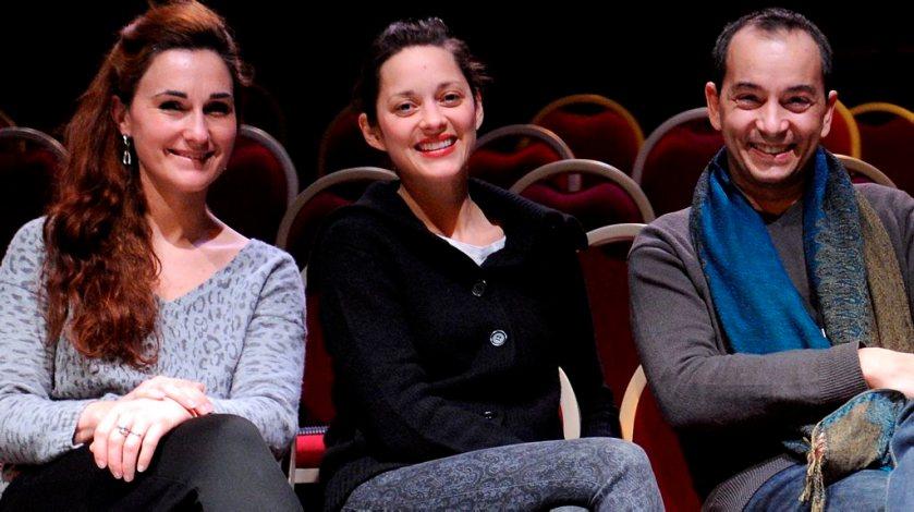 """DDM-MICHEL VIALA MARION COTILLARD A LA HALLE AUX GRAINS REPETE LE ROLE DE JEANNE D'ARC DANS L'ORATORIO D'HONEGGER """"JEANNE D'ARC AU BUCHER"""" MARION COTILLARD"""