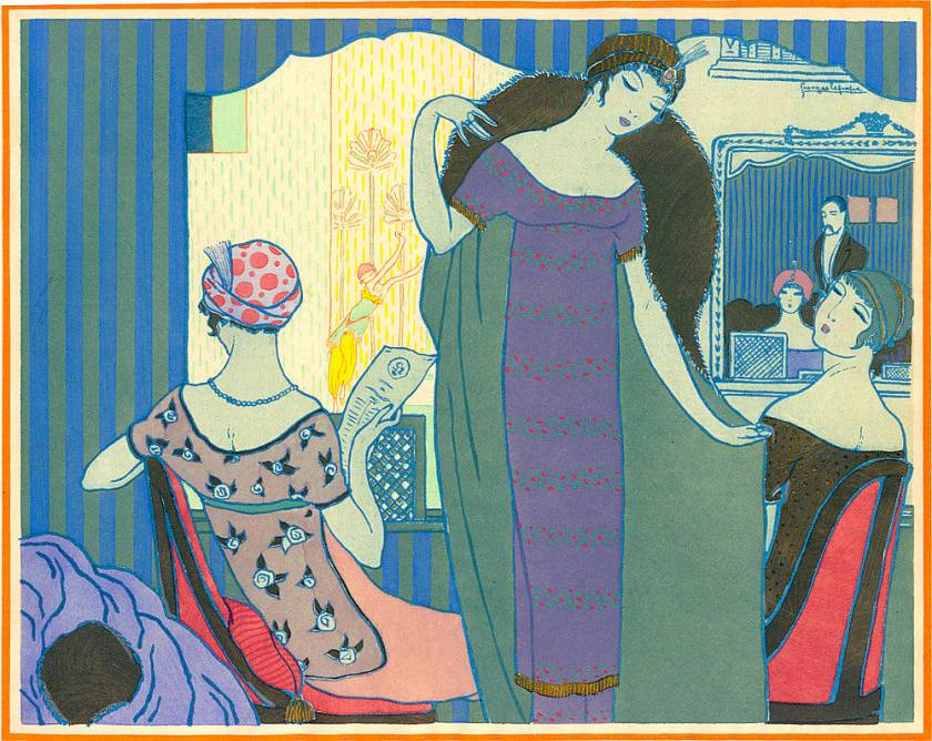 Georges Lepape's artwork titled Les Choses de Paul Poiret