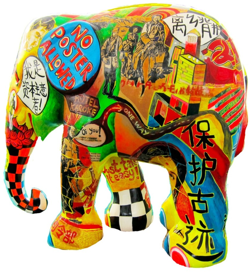 elephant-chinese-side-view-white-background
